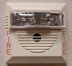 Houston commercial fire alarm system with sound and flashing light